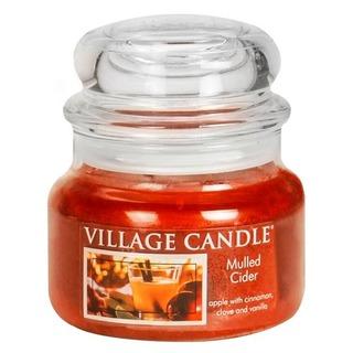 Village Candle Malá vonná svíčka ve skle Mulled Cider 262g - Svařený jablečný mošt