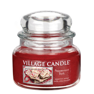 Village Candle Malá vonná svíčka ve skle Peppermint Bark 262g - Mátové potěšení