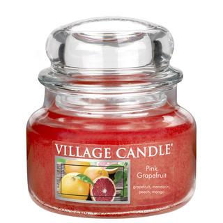 Village Candle Malá vonná svíčka ve skle Pink Grapefruit 262g - Růžový grapefruit