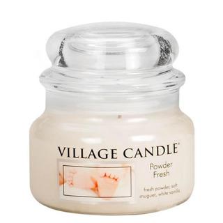 Village Candle Malá vonná svíčka ve skle Powder Fresh 262g - Pudrová svěžest