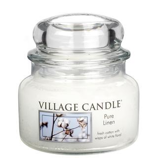 Village Candle Malá vonná svíčka ve skle Pure Linen 262g - Čisté prádlo