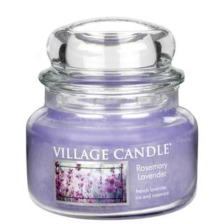 Village Candle Malá vonná svíčka ve skle Rosemary Lavender 262g - Rozmarýn a levandule