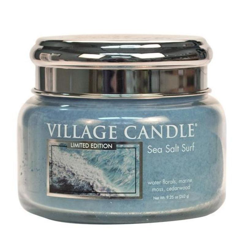 Village Candle Malá vonná svíčka ve skle Sea Salt Surf 262g - Mořský příboj