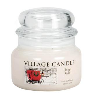 Village Candle Malá vonná svíčka ve skle Sleigh Ride 262g - Zimní vyjížďka