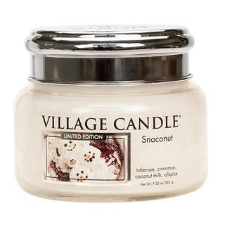 Village Candle Malá vonná svíčka ve skle Snoconut 262g - Kokosový sníh