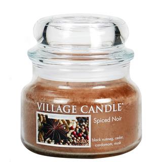 Village Candle Malá vonná svíčka ve skle Spiced Noir 262g - Koření života