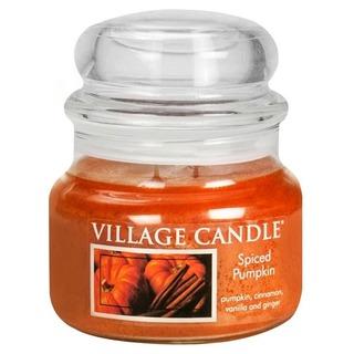 Village Candle Malá vonná svíčka ve skle Spiced Pumpkin 262g - Dýně a koření