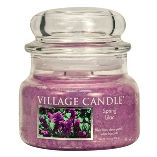 Village Candle Malá vonná svíčka ve skle Spring Lilac 262g - Jarní šeřík