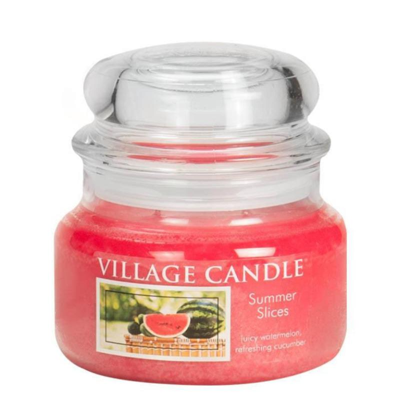Village Candle Malá vonná svíčka ve skle Summer Slices 262g - Letní pohoda
