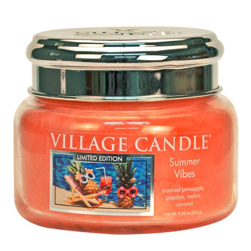 Village Candle Malá vonná svíčka ve skle Summer Vibes 262g