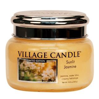 Village Candle Malá vonná svíčka ve skle Sunlit Jasmine 262g