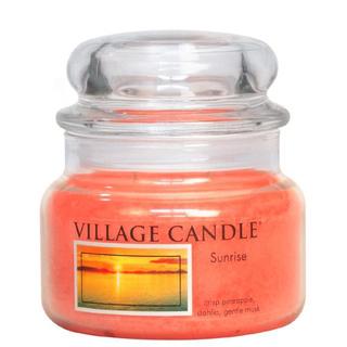 Village Candle Malá vonná svíčka ve skle Sunrise 262g - Východ slunce