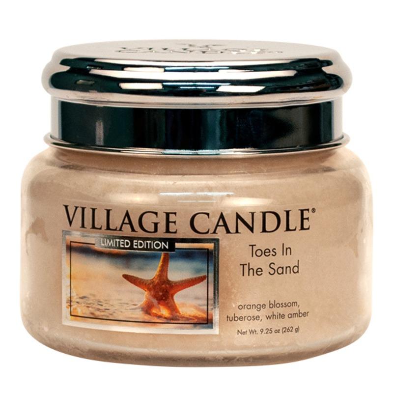 Village Candle Malá vonná svíčka ve skle Toes In The Sand 262g