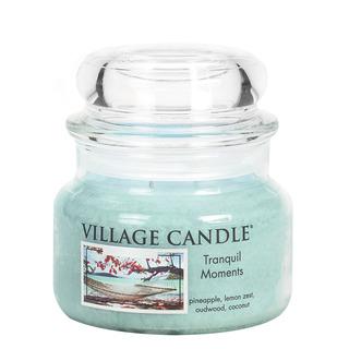 Village Candle Malá vonná svíčka ve skle Tranquil Moments 262g - Jedinečné okamžiky