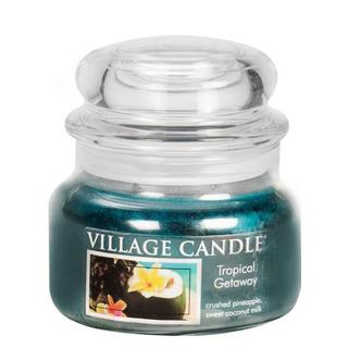 Village Candle Malá vonná svíčka ve skle Tropical Getaway 262g - Víkend v tropech
