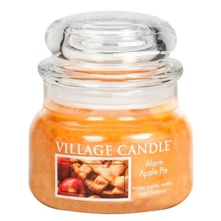 Village Candle Malá vonná svíčka ve skle Warm Apple Pie 262g - Jablečný koláč