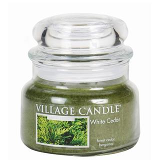 Village Candle Malá vonná svíčka ve skle White Cedar 262g - Cedrové dřevo