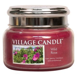 Village Candle Malá vonná svíčka ve skle Wild Rose 262g - Divoká růže