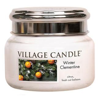 Village Candle Malá vonná svíčka ve skle Winter Clementine 262g - Sváteční mandarinka
