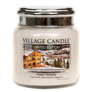 Village Candle Střední vonná svíčka ve skle Aspen Holiday 397g - Sváteční Aspen