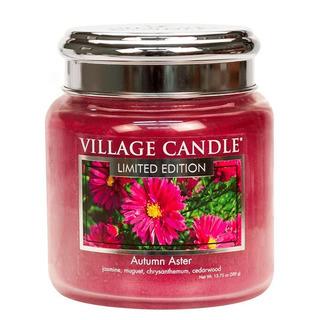 Village Candle Střední vonná svíčka ve skle Autumn Aster 397g - Podzimní hvězdnice