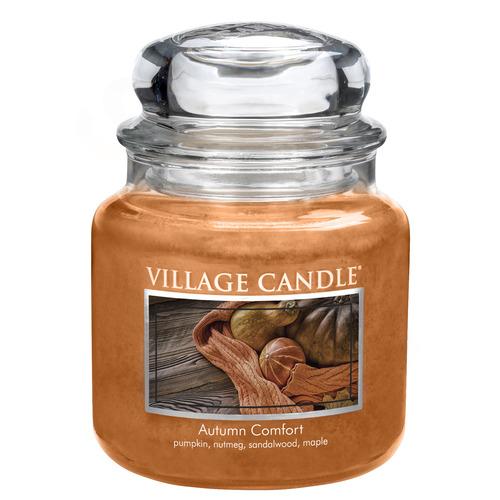 Village Candle Autumn Comfort 397g - střední vonná svíčka ve skle Hřejivý podzim
