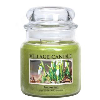 Village Candle Střední vonná svíčka ve skle Awakening 397g - Jarni probuzení