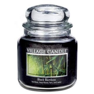 Village Candle Střední vonná svíčka ve skle Black Bamboo 397g - Bambus