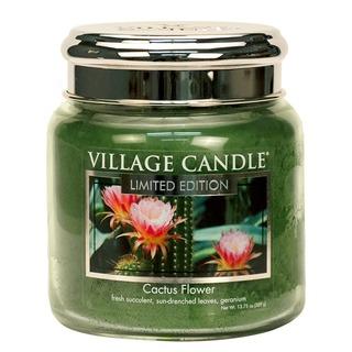 Village Candle Střední vonná svíčka ve skle Cactus Flower 397g
