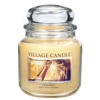 Village Candle Střední vonná svíčka ve skle Celebration 397g - Oslava