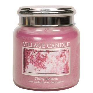 Village Candle Střední vonná svíčka ve skle Cherry Blossom 397g - Třešňový květ