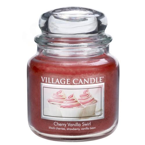 Střední vonná svíčka ve skle Cherry Vanilla Swirl 397g - Višeň a vanilka