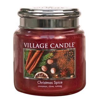 Village Candle Střední vonná svíčka ve skle Christmas Spice 397g - Vánoční koření