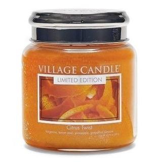 Village Candle Střední vonná svíčka ve skle Citrus Twist 397g - Citrusové osvěžení