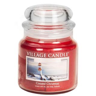 Village Candle Střední vonná svíčka ve skle Coastal Christmas 397g - Vánoce v přístavu