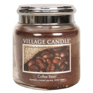 Village Candle Střední vonná svíčka ve skle Coffee Bean 397g - Zrnková káva