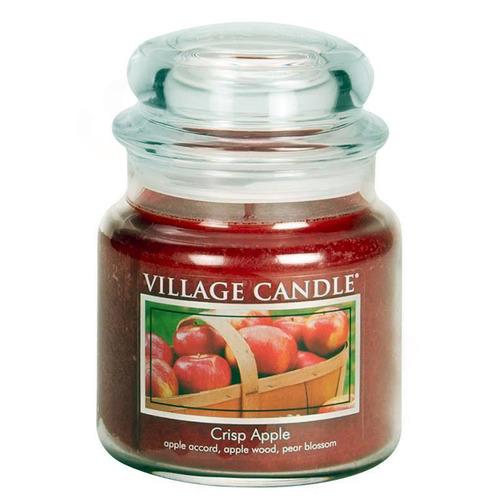 Village Candle Crisp Apple 397g - střední vonná svíčka ve skle Svěží jablko