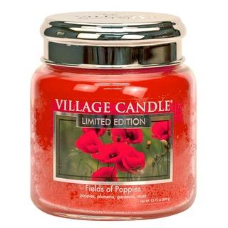 Village Candle Střední vonná svíčka ve skle Fields of poppies 397g