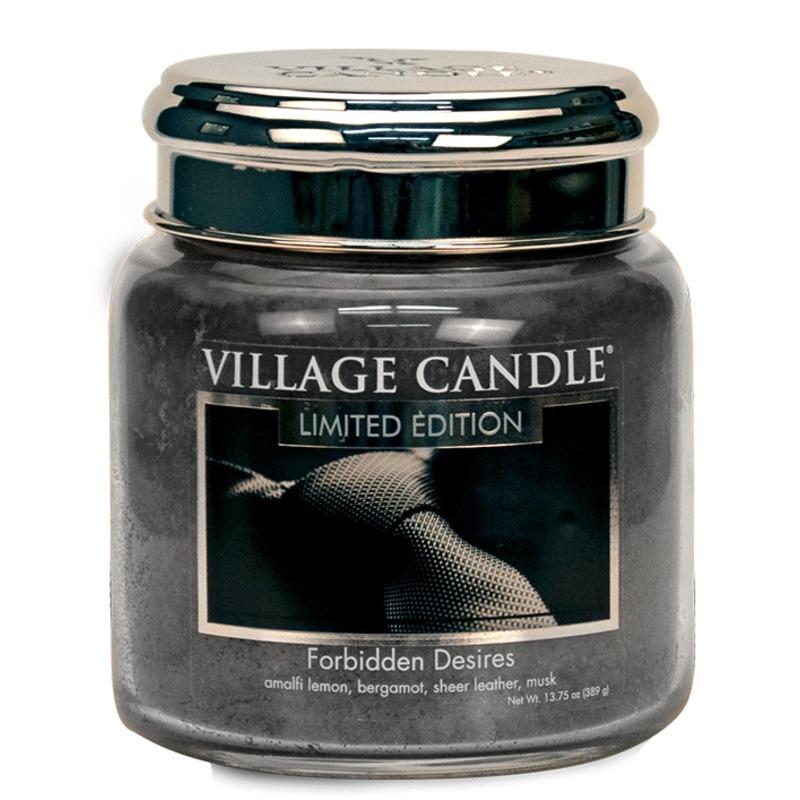 Village Candle Střední vonná svíčka ve skle Forbidden Desires 397g