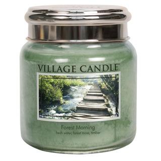 Village Candle Střední vonná svíčka ve skle Forest Morning 397g - Lesní probuzení