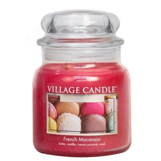 Village Candle Střední vonná svíčka ve skle French Macaroon 397g - Francouzské makronky