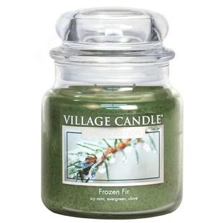 Village Candle Střední vonná svíčka ve skle Frozen Fir 397g - Jinovatka