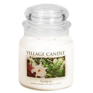 Village Candle Střední vonná svíčka ve skle Gardenia 397g - Gardénie