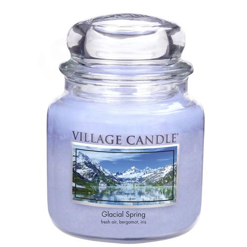 Village Candle Ledovcový vánek 397g - střední vonná svíčka ve skle Glacial Spring