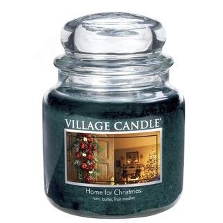 Village Candle Střední vonná svíčka ve skle Home for Christmas 397g - Kouzlo Vánoc