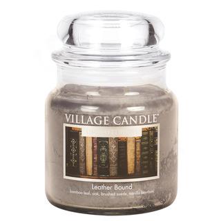 Village Candle Střední vonná svíčka ve skle Leather Bound 397g - Nádech minulosti