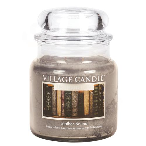 Village Candle Leather Bound 397g - střední vonná svíčka ve skle Nádech minulosti