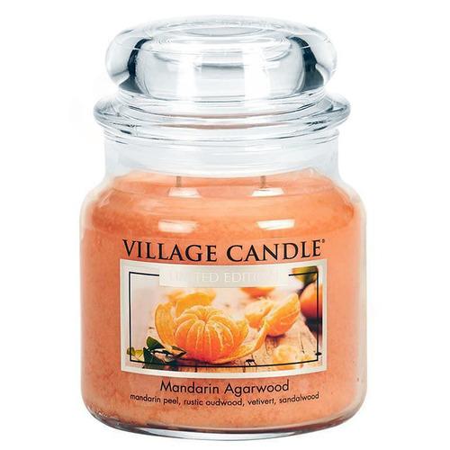 Village Candle Mandarin Agarwood 397g - střední vonná svíčka ve skle Mandarinka a Agar