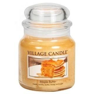 Village Candle Střední vonná svíčka ve skle Maple Butter 397g - Javorový sirup