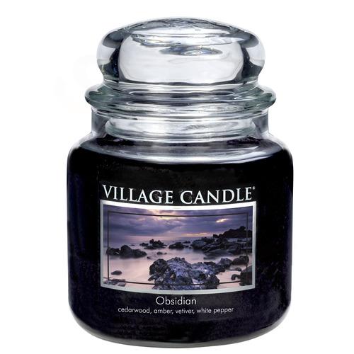 Village Candle Obsidian 397g - střední vonná svíčka ve skle Obsidián
